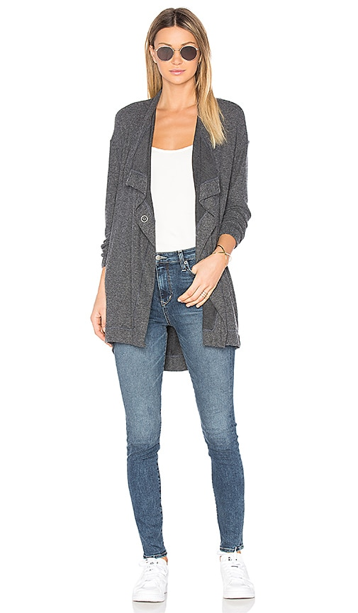 Michael Stars Transit Cardigan in Charcoal