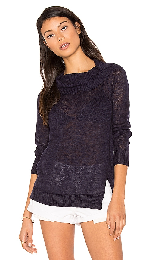 Michael Stars Off Shoulder Sweater in Blue