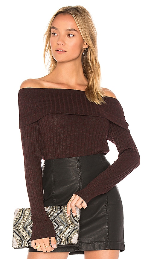 Michael Stars Off the Shoulder Sweater in Red