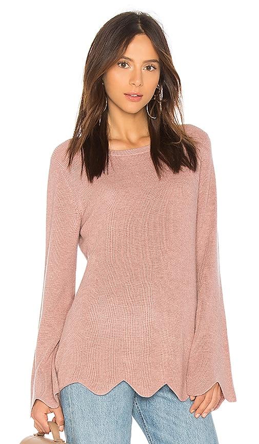 Michael Stars Sweaters CASHMERE SCALLOPED SWEATER
