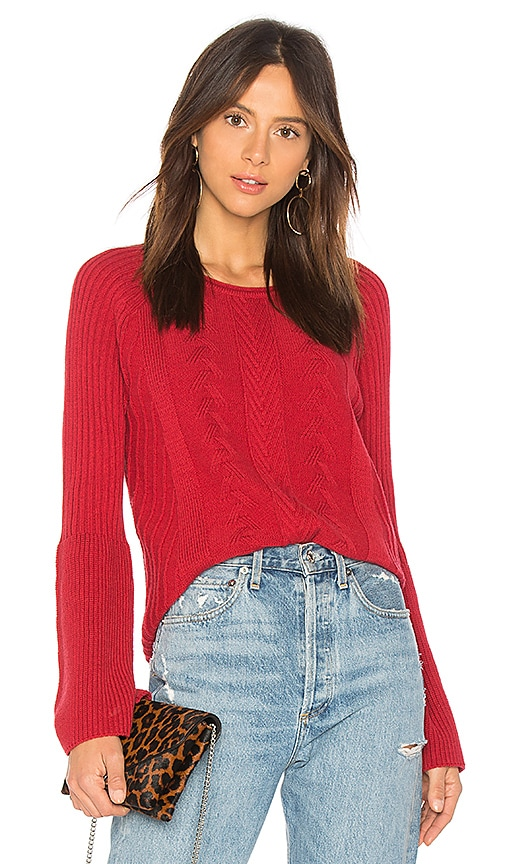 Michael Stars Bell Sleeve Sweater in Red