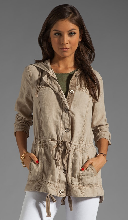 Linen Anorak Hooded Jacket