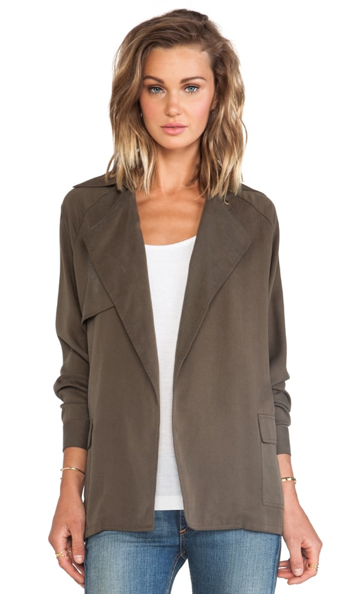 Long Sleeve Belted Trench