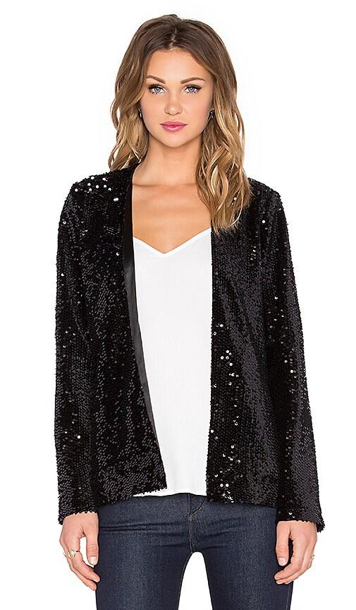 Michael Stars Long Sleeve Jacket in Black