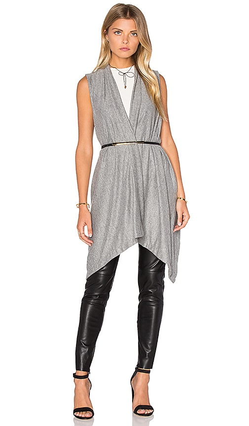 Michael Stars Draped Blanket Vest in Gray