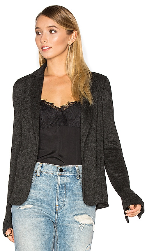 Michael Stars Relaxed Blazer in Charcoal