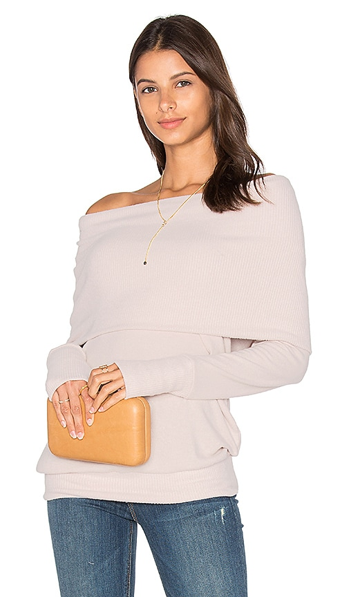 Michael Stars Long Sleeve Convertible Top in Blush