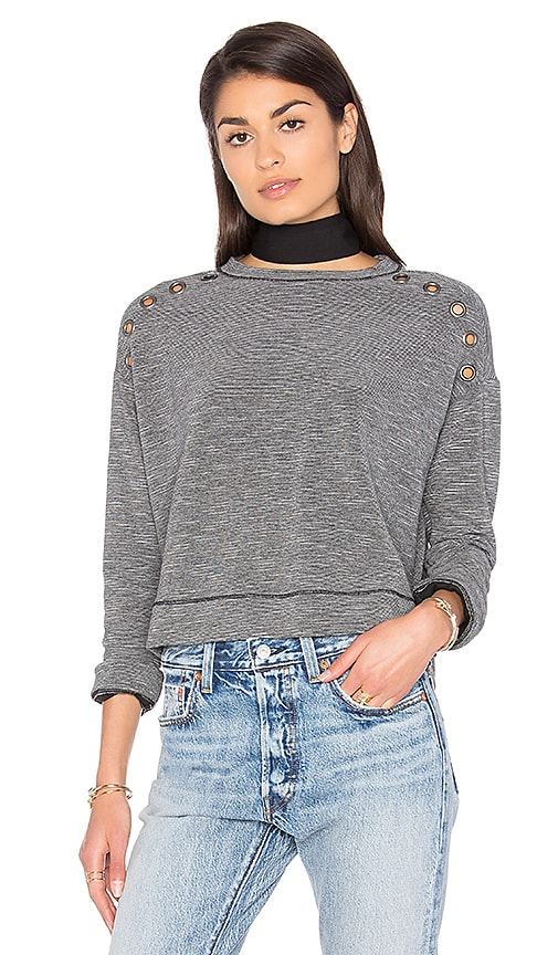 Michael Stars Grommets Pullover in Gray