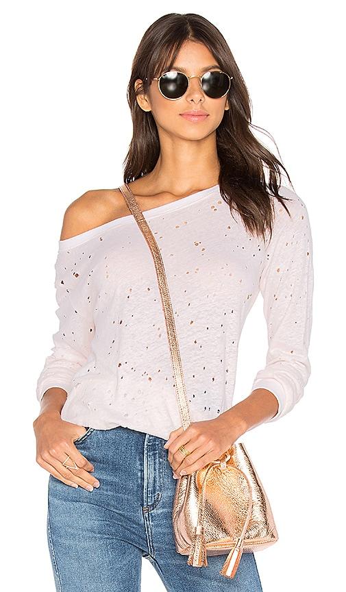 Michael Stars Textured Sweatshirt in Blush