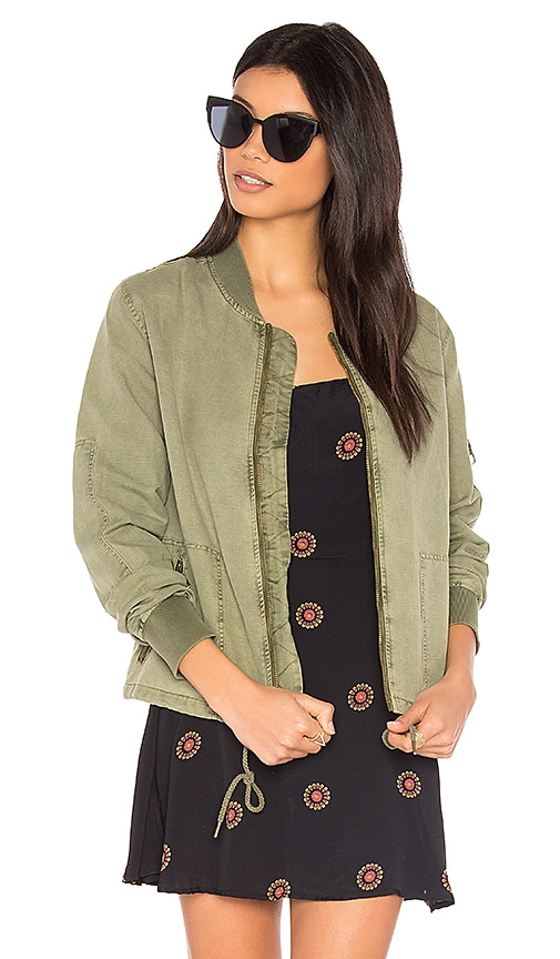 Michael Stars Cinched Bomber in Olive