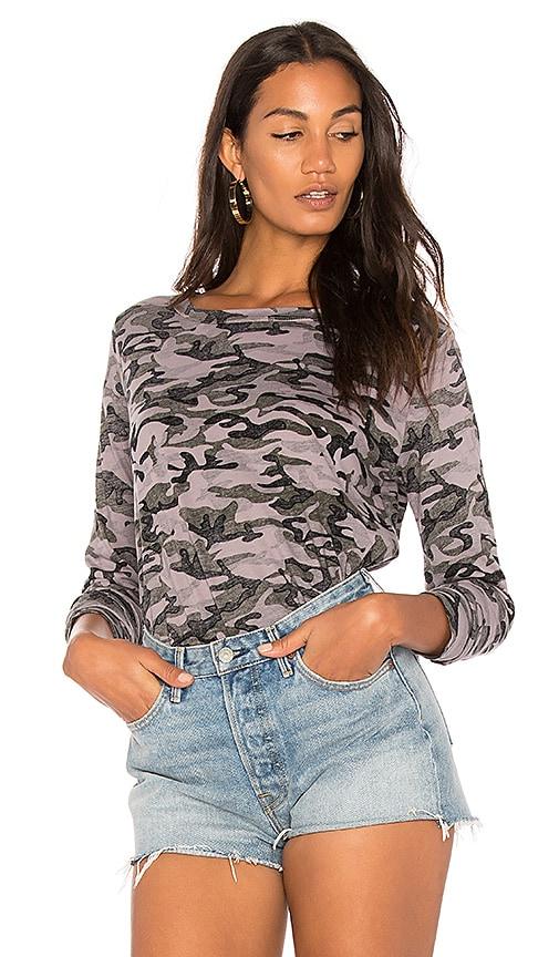 Michael Stars Camo Sweatshirt in Gray