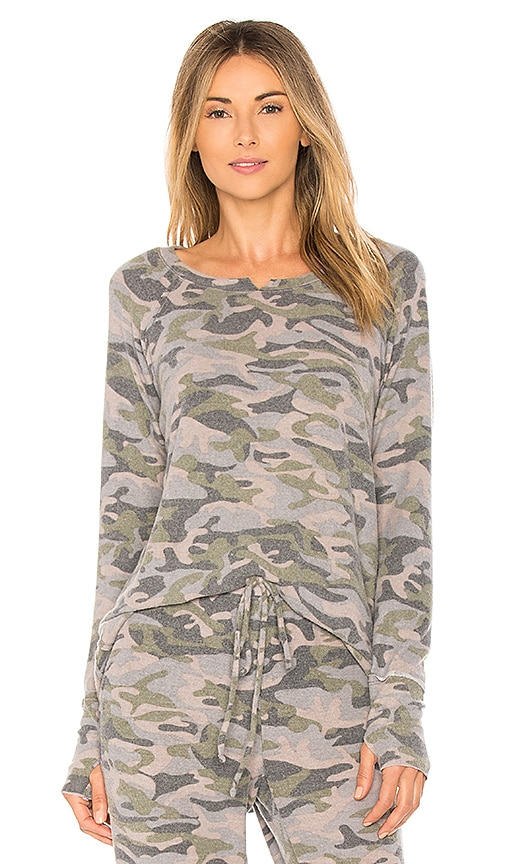 Michael Stars Madison Hi Low Sweatshirt in Green