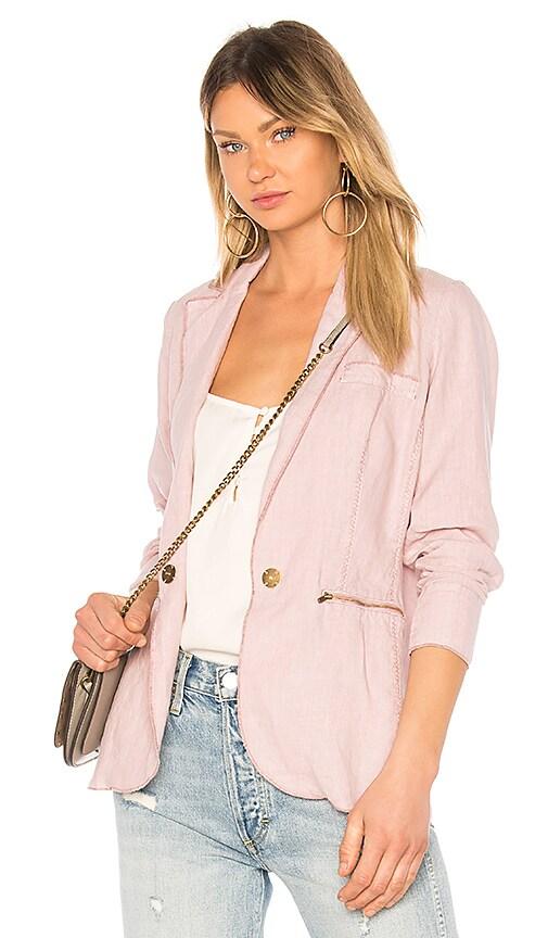 Michael Stars Linen Blazer in Pink