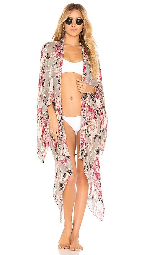 Michael Stars Dreaming In Florals Kimono in Slate