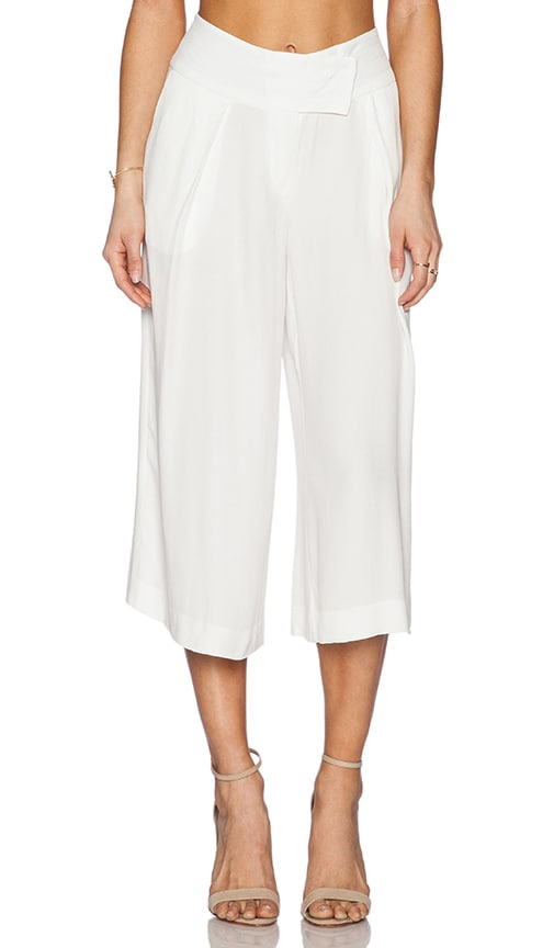 Michael Stars Cross Front Culotte Pant in Eggshell