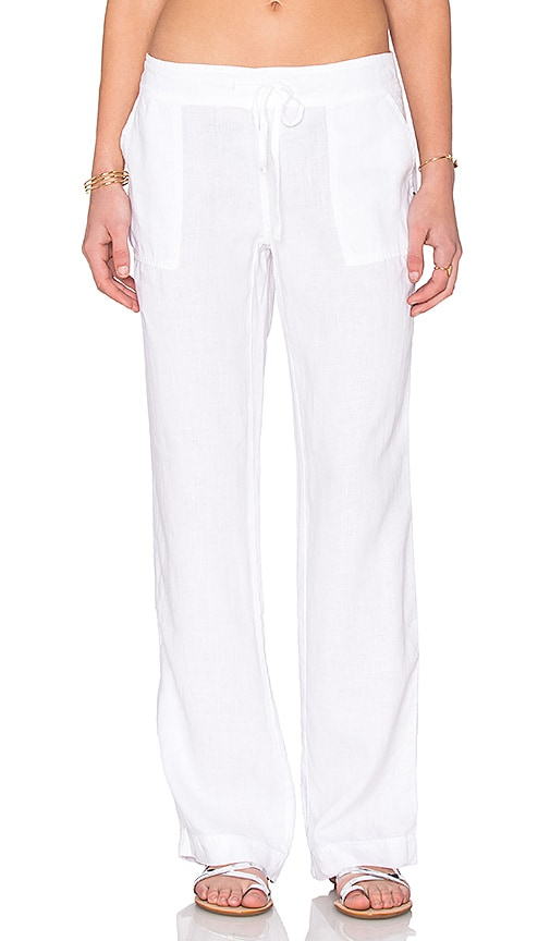 Michael Stars Wide Leg Pant in White