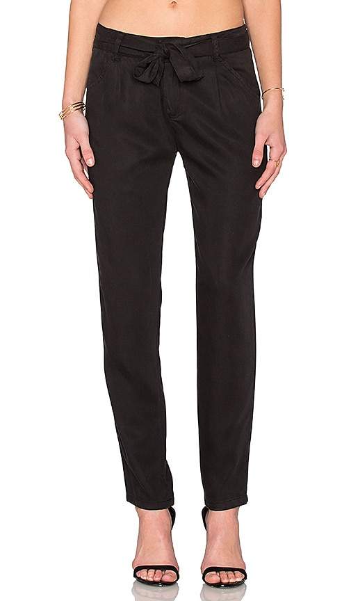 Michael Stars Straight Leg Pant in Black