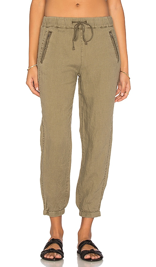 Michael Stars Drawstring Pant in Olive Moss