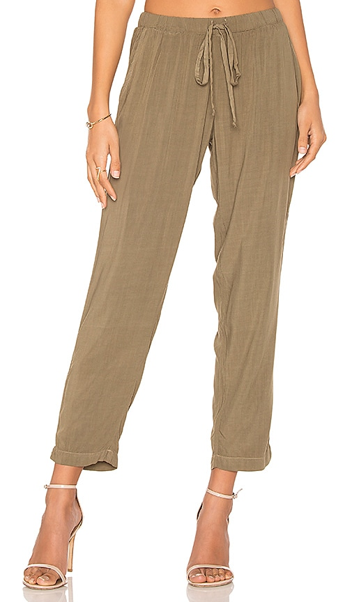 Michael Stars Tapered Pant in Green