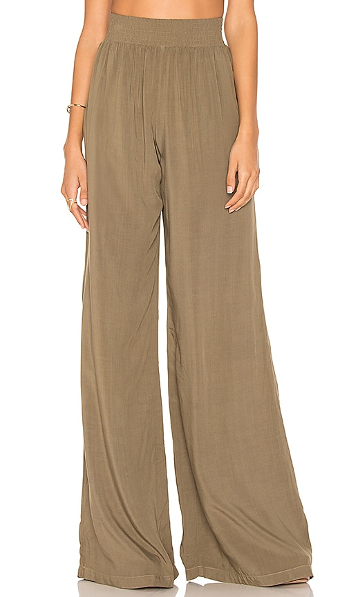 Michael Stars Wide Leg Pant in Green