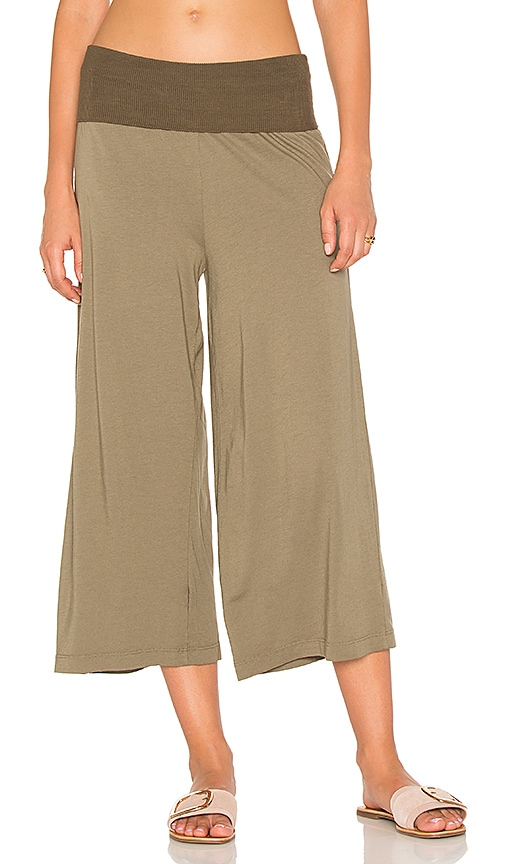Michael Stars Cropped Culottes in Olive