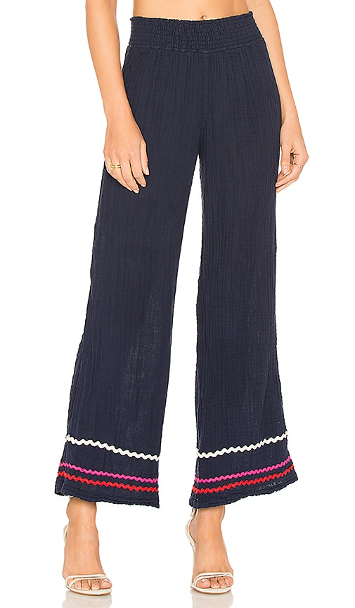 Michael Stars Ric Rac Double Gauze Pant in Navy