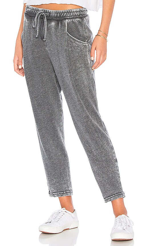 Michael Stars Cropped Jogger in Charcoal
