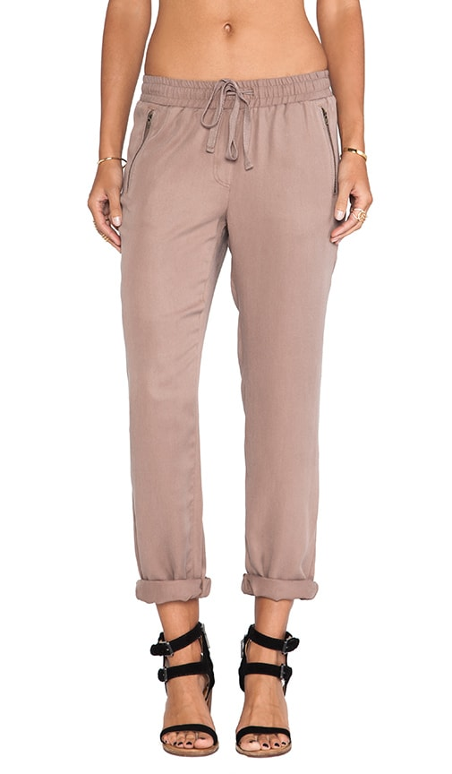 Drawstring Pull-on Pant with Zippers