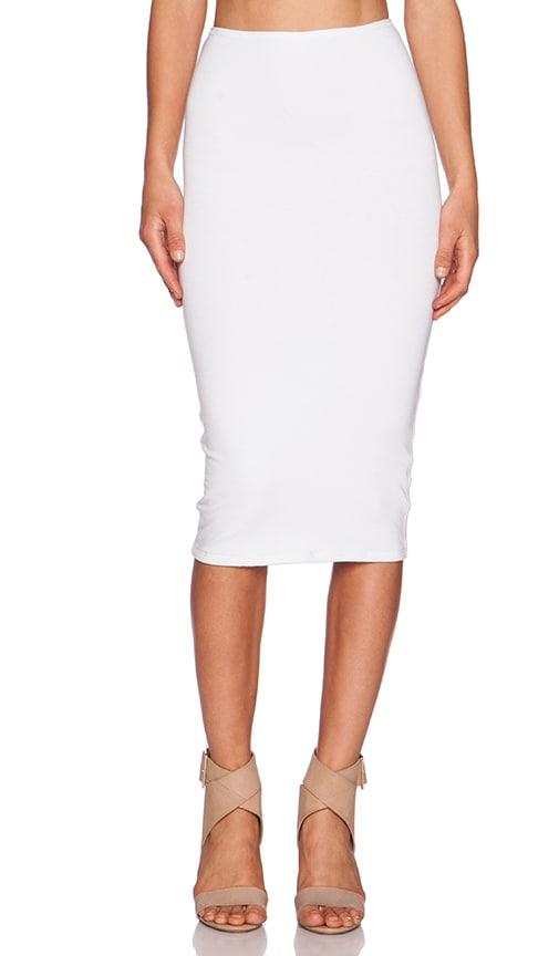 Michael Stars Convertible Pencil Skirt in White
