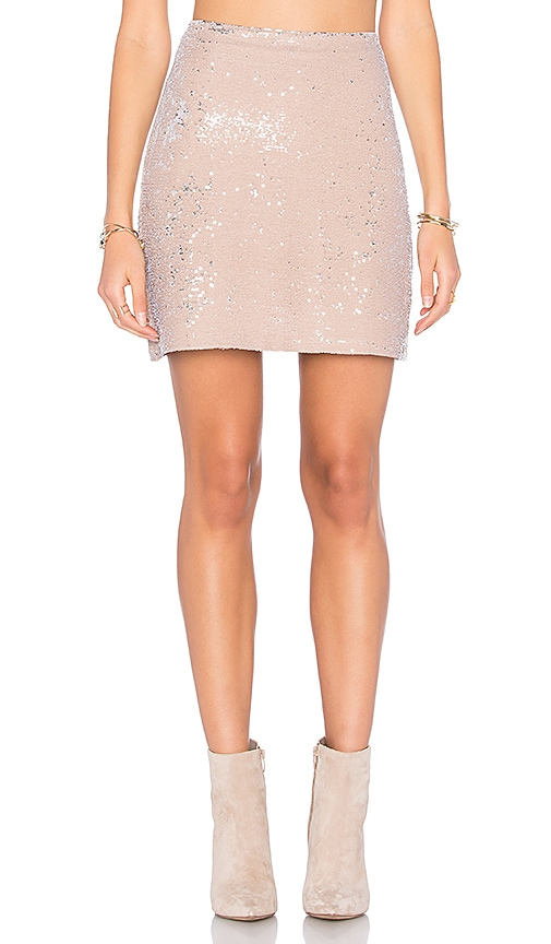Michael Stars Sequin Mini Skirt in Beige