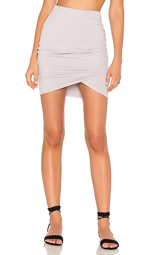Michael Stars Cross Front Skirt in Lavender