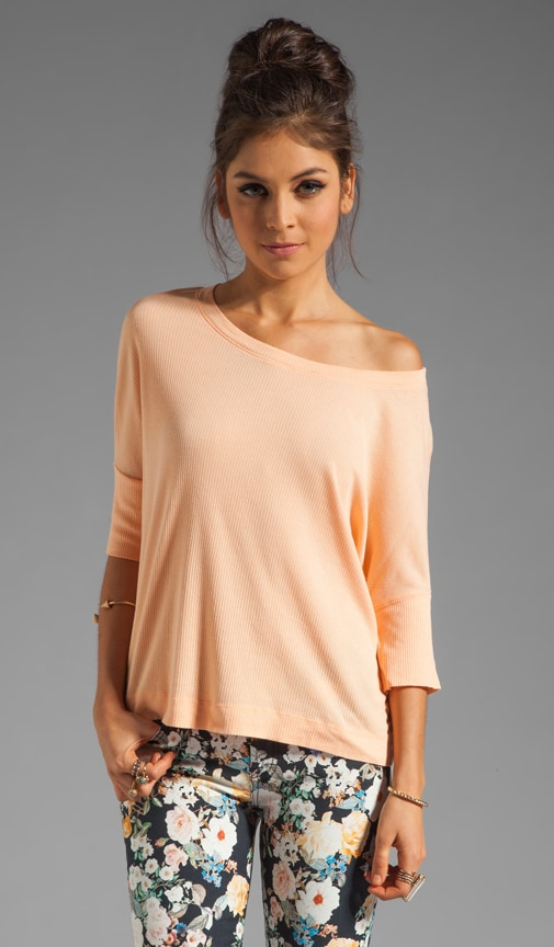 Supima Modal Elbow Sleeve Crop Top