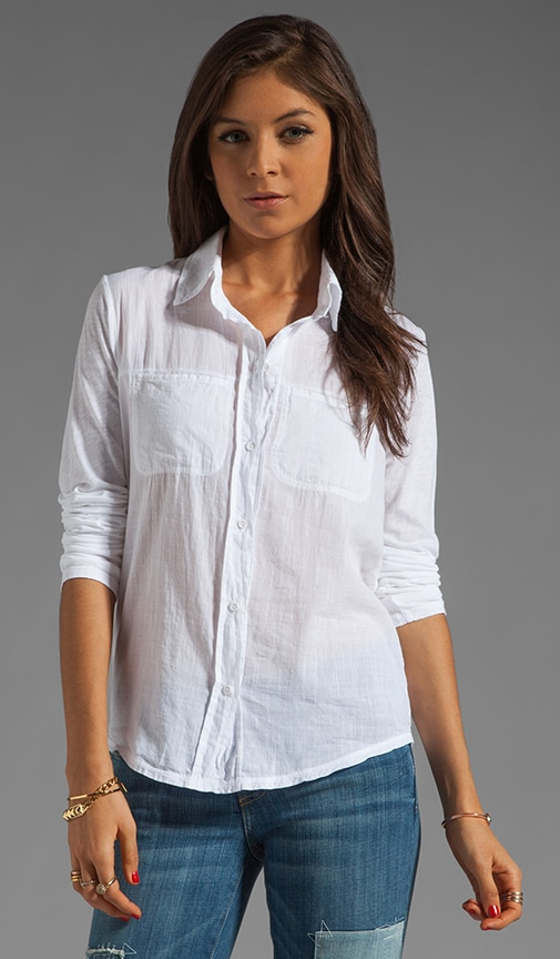 Long Sleeve Shirt With Voile Mix