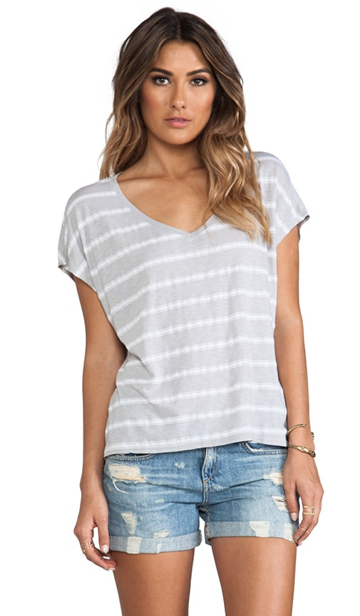 Short Sleeve Scoop Neck Striped Tee