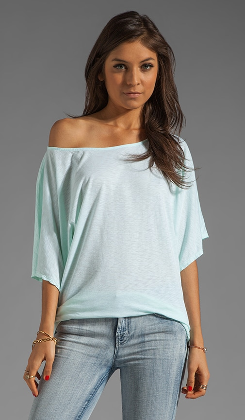 Short Sleeve Off-Shoulder Dolman Top
