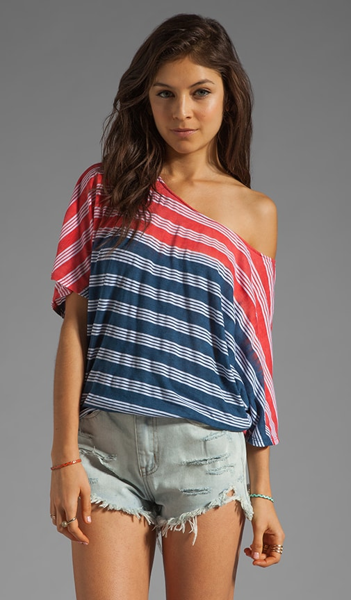 Horizon Wash Short Sleeve Off Shoulder Dolman