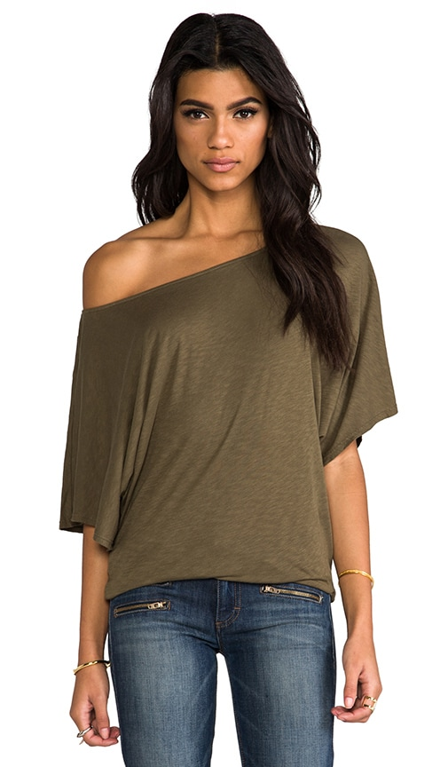 Short Sleeve Off Shoulder Dolman Top