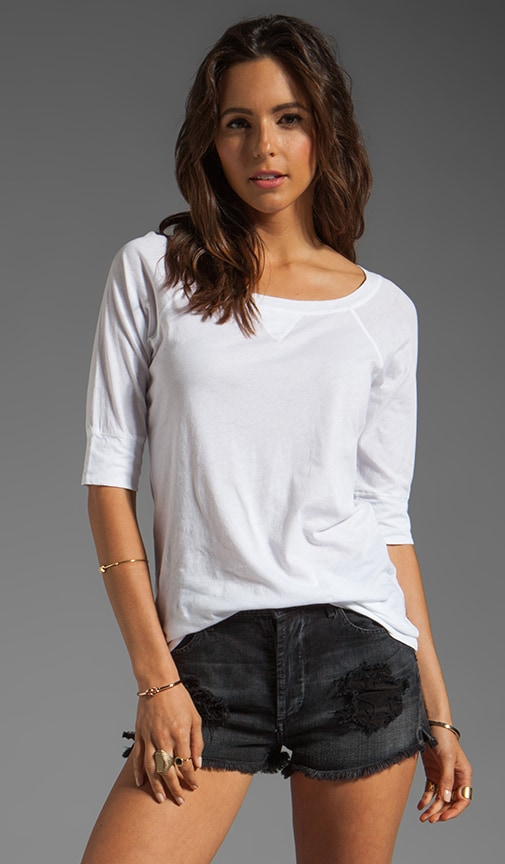 Elbow Sleeve Neck Raglan