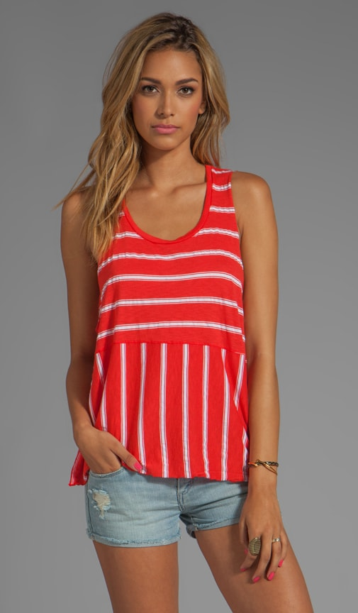Hampton Stripe Dropped Armhole Cropped Tank