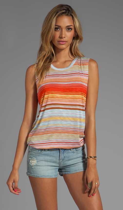 Happy Stripe Muscle Tank