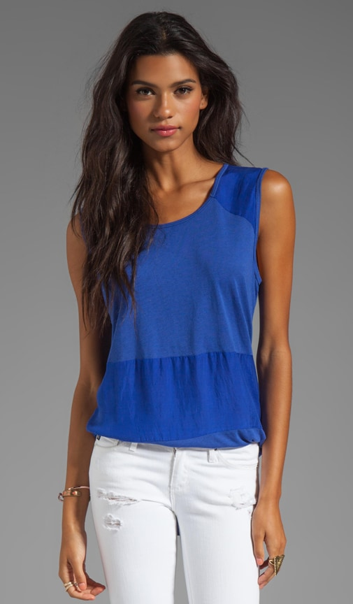 Sandwashed Silk Scoop Neck Muscle Tank