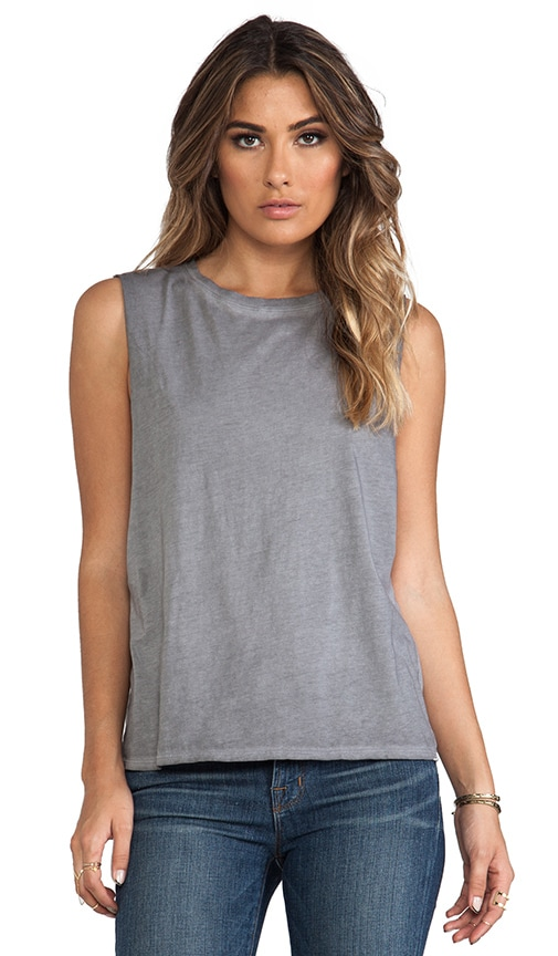 Sunfaded Jersey Dropped Armhole Tank