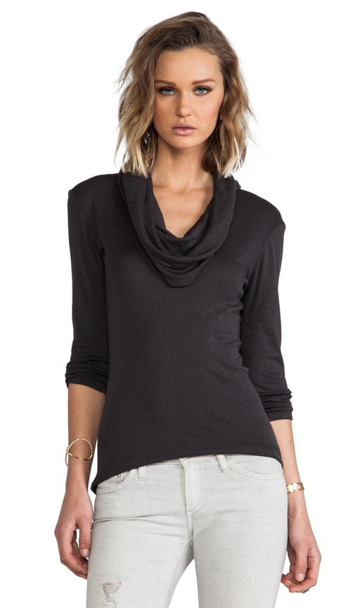 3/4 Sleeve Cowl Neck Top