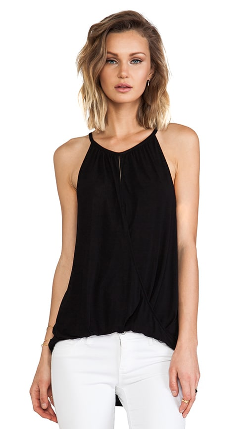 Sleeveless Keyhole High Low Halter