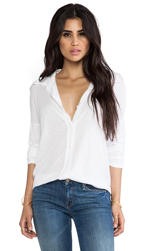 Long Sleeve High Low Button Down Shirt
