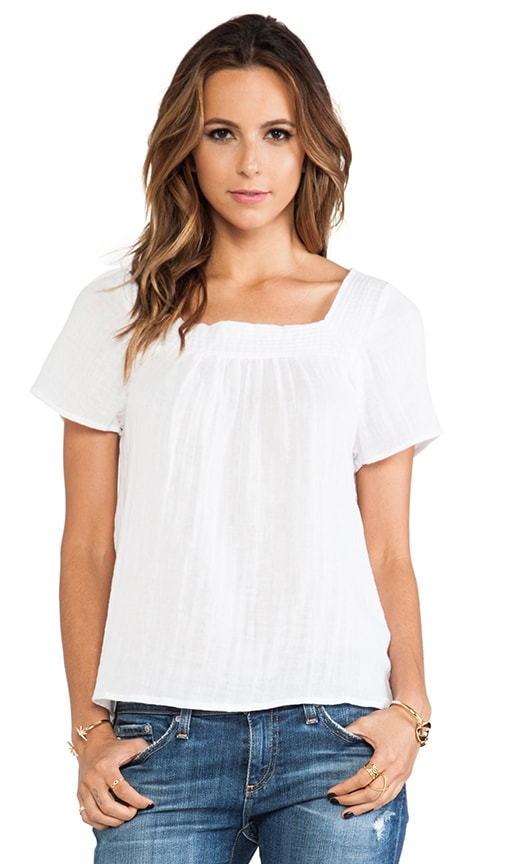 Short Sleeve Square Neck Blouse