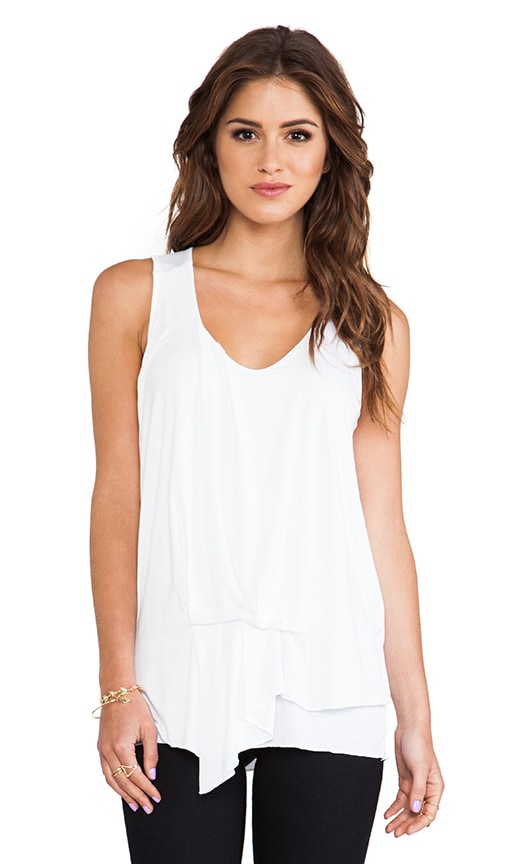 Side Waist Drape V Neck Tank
