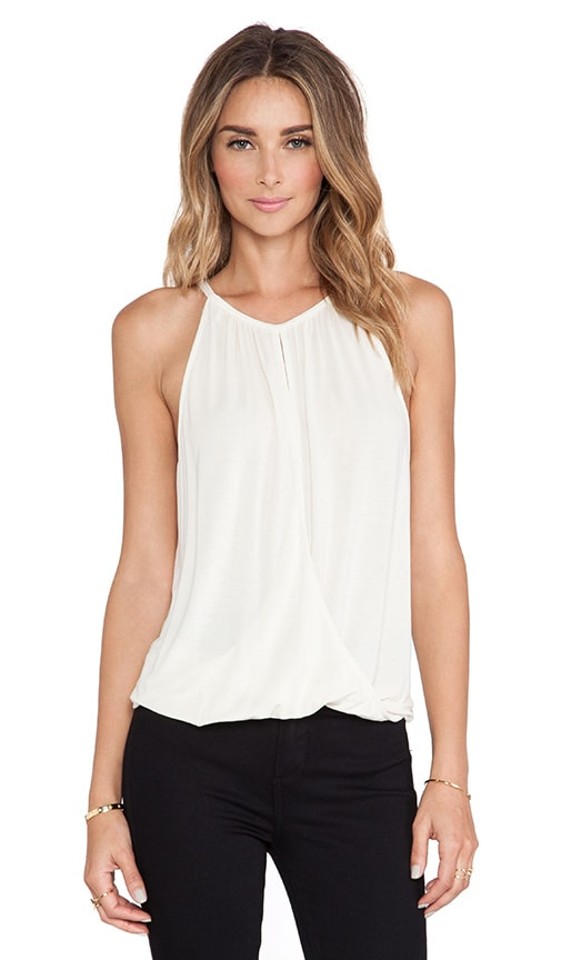 Sleeveless Keyhole High Low Halter Top