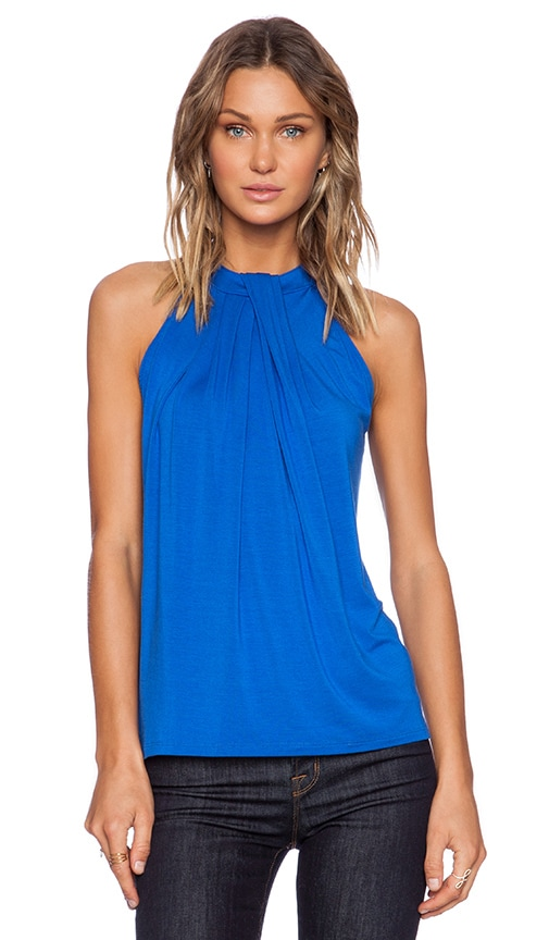 Michael Stars Sleeveless Halter Top in Blue