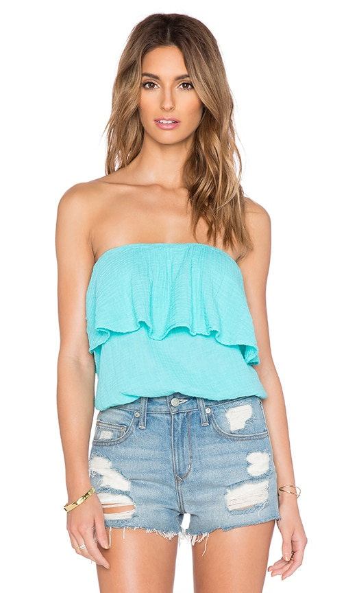 Michael Stars Blouson Tube Top in Aruba